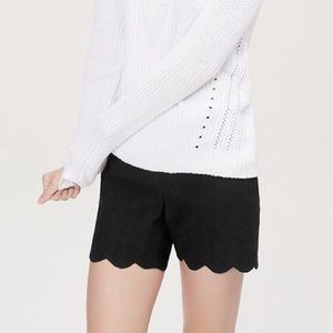 LOFT Riviera Black Scallop Shorts